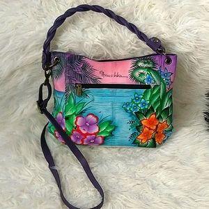 Anushka Leather Hand Painted Bag